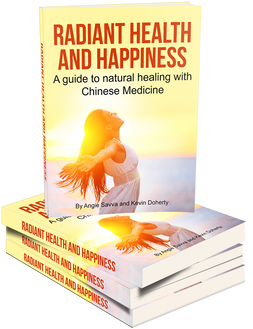 Angie Savva's first E-book, Radiant Health and Happiness